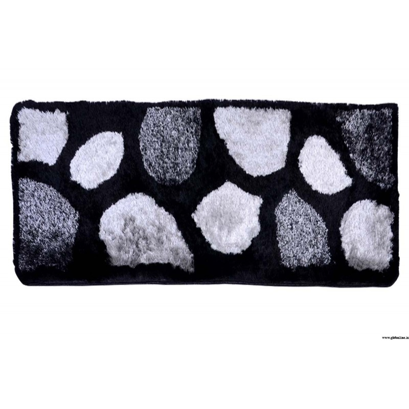 Abstract Design Grey Malaidori Runner Mat