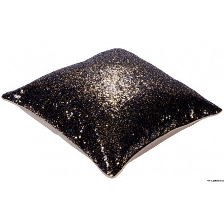Sparkling Dark Coffee Sequin Cushion Cover at ghfonline.in