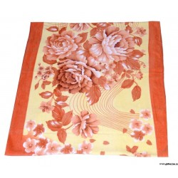 Brown Floral Design Towel